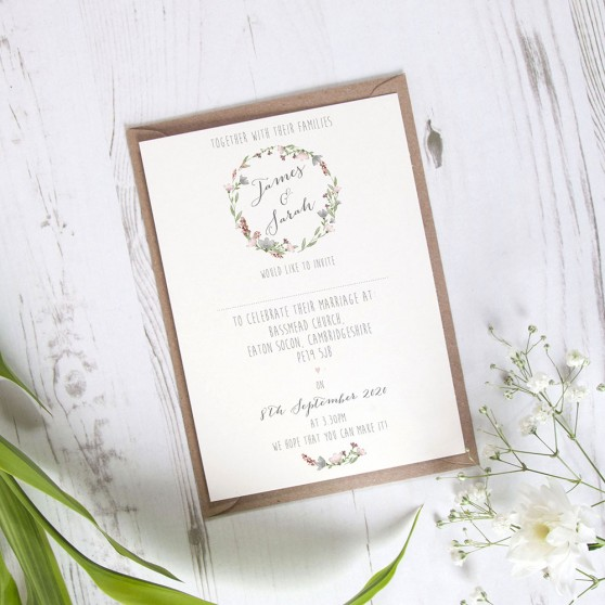'Genevieve' Standard Wedding Invitation