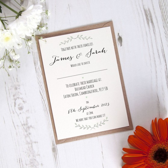 'Green Plant' Standard Invite Sample
