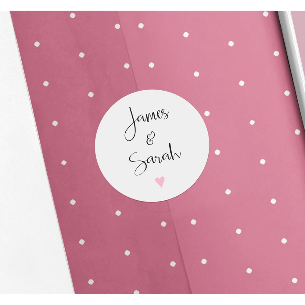 'Pink Heart Bunting' Standard Invite Only
