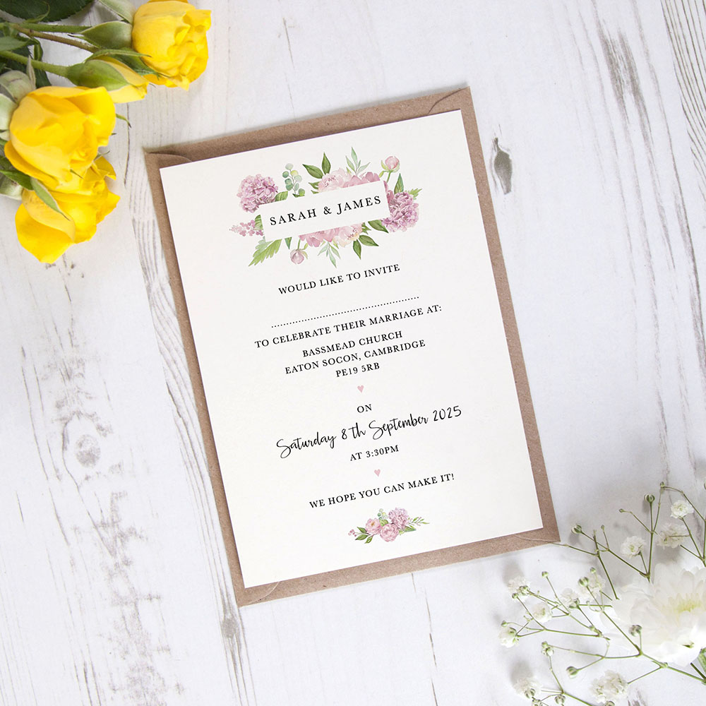 'Hydrangea' Standard Invite Only Sample