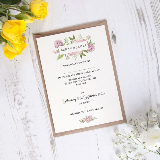 'Hydrangea' Standard Invite Only Sample