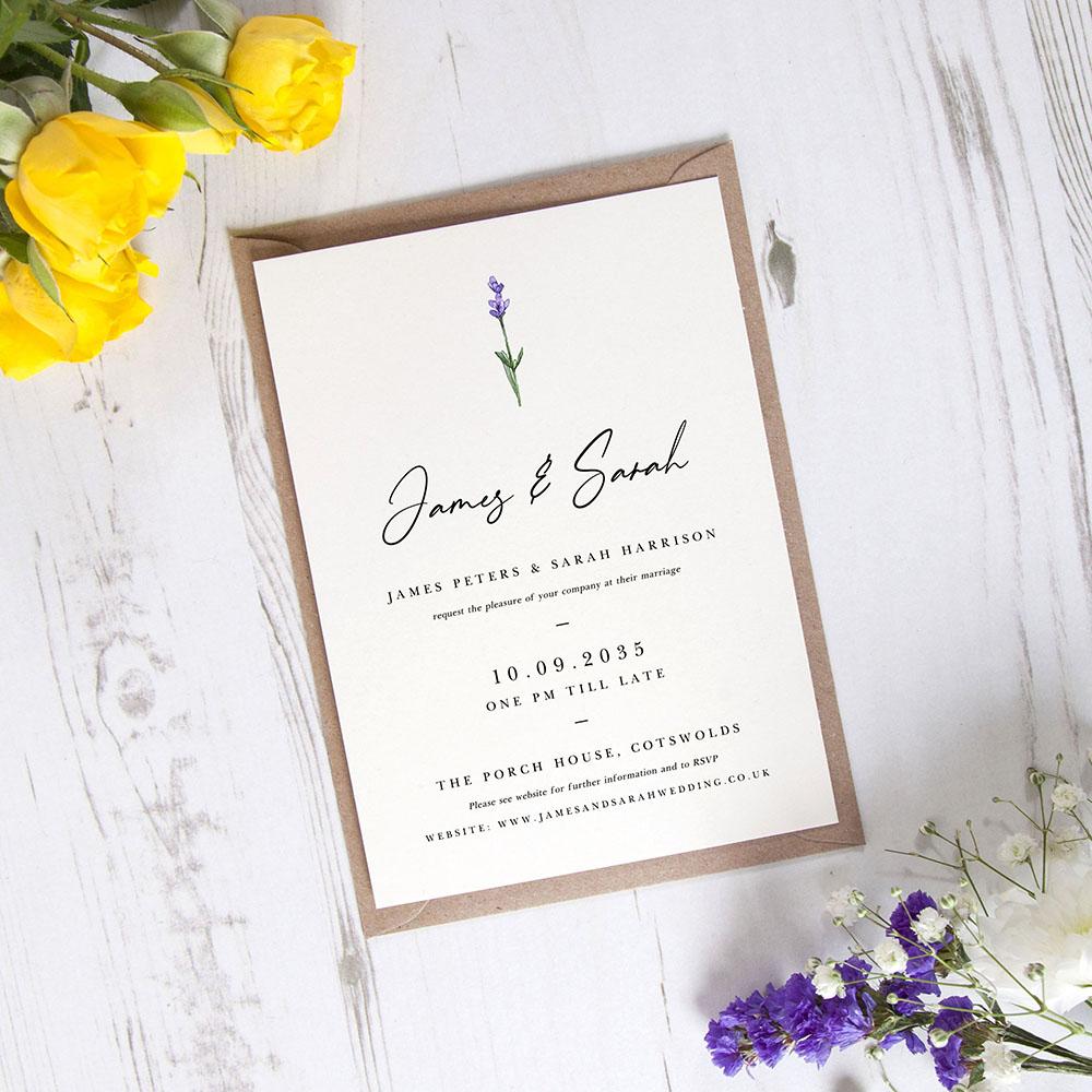 'Lavender' Standard Invite
