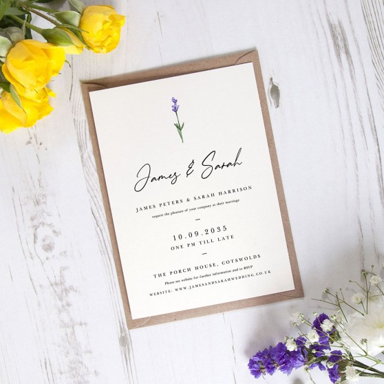 'Lavender' Standard Invite Sample