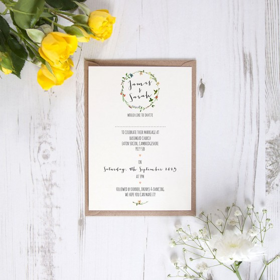 'Meadow Floral' Standard Invite Sample