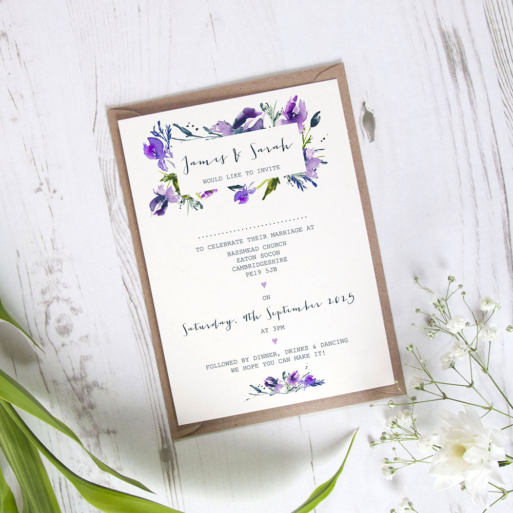 'Midnight Iris' Standard Invite Only Sample