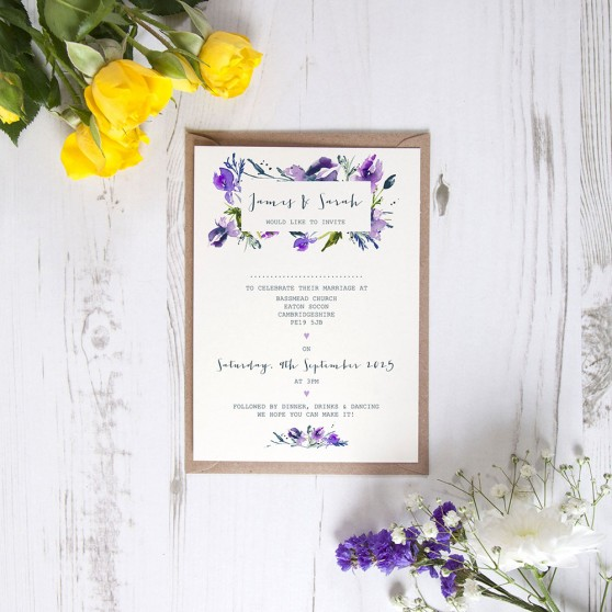 'Midnight Iris' Standard Invite