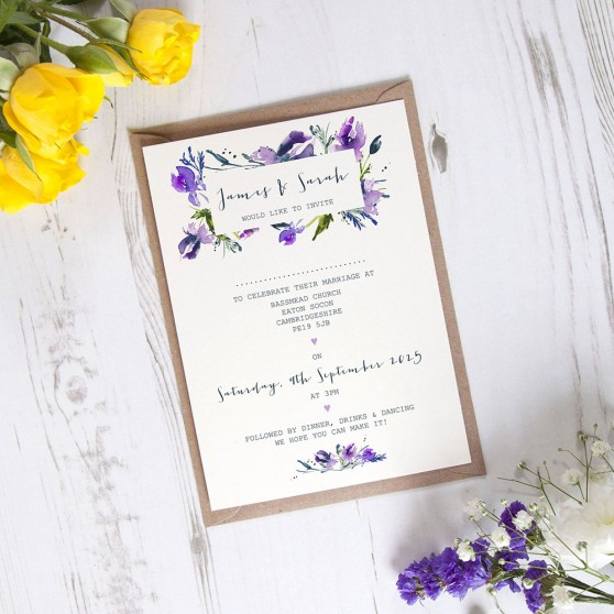 'Midnight Iris' Standard Invite Sample