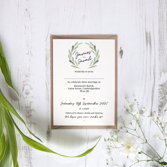 'Olive' Standard Invite Only Sample