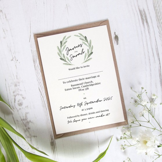 'Olive' Standard Invite Sample