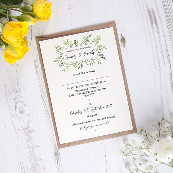 'Ophelia' Standard Invite Sample