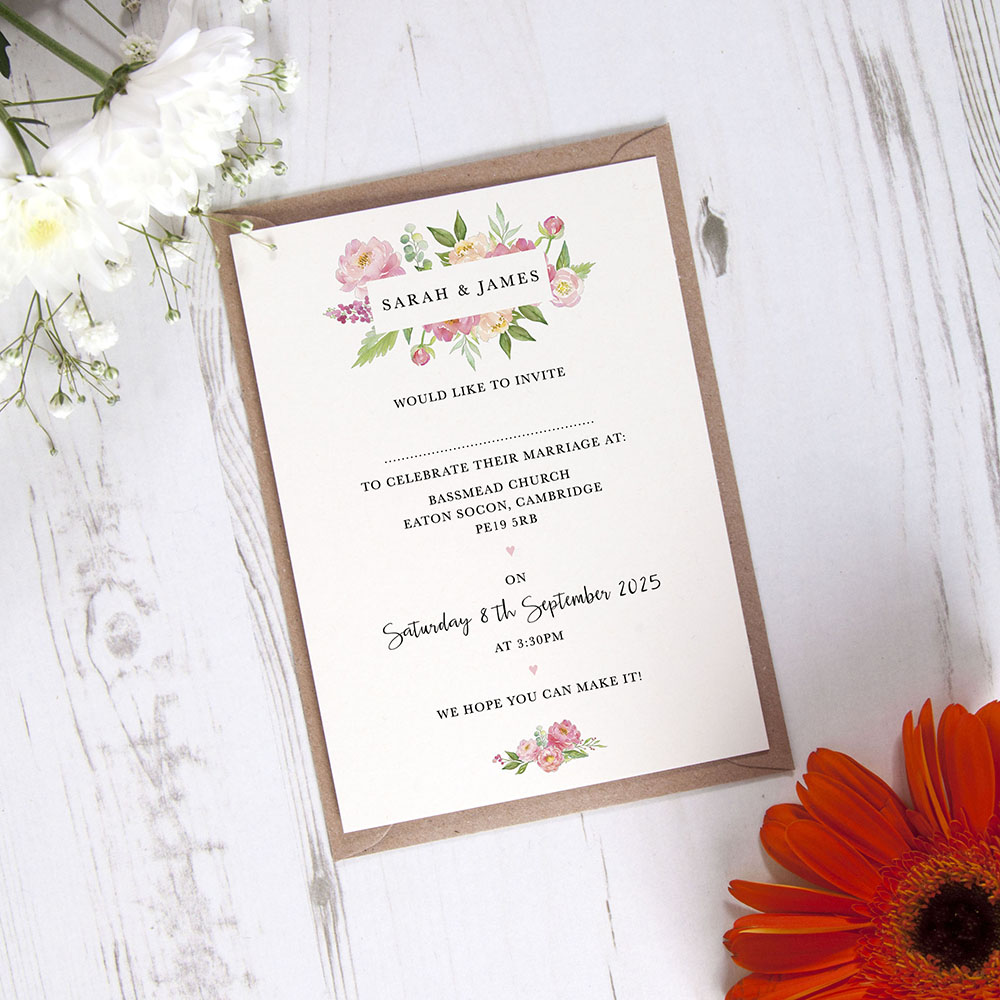 'Peony' Standard Invite Only Sample