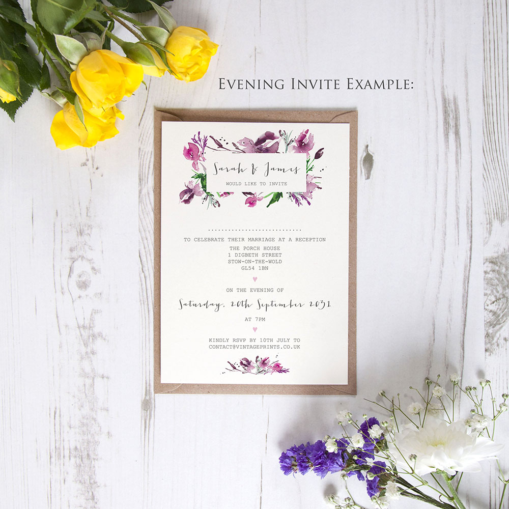 'Pink Iris' Standard Invite Only