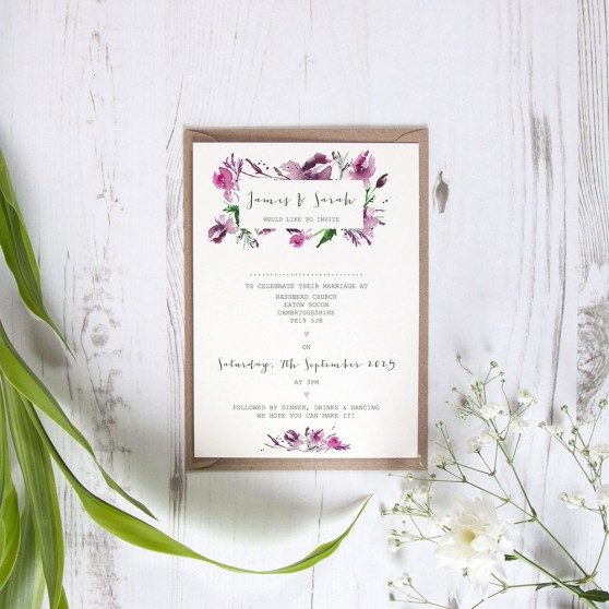 'Pink Iris' Standard Invite Only Sample