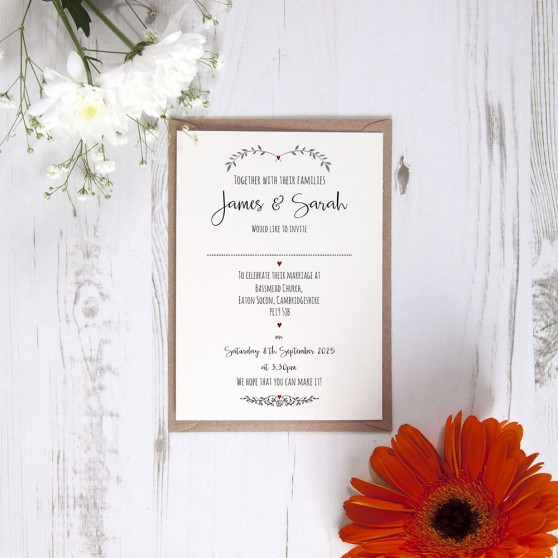 'Red Ivy Design' Standard Invite