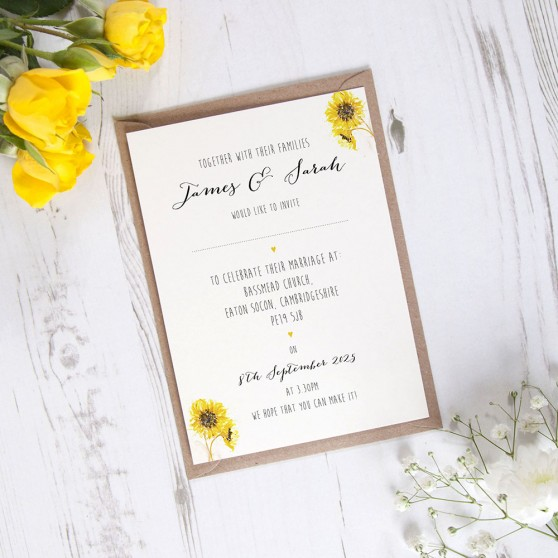 'Sunflower' Standard Invite Sample