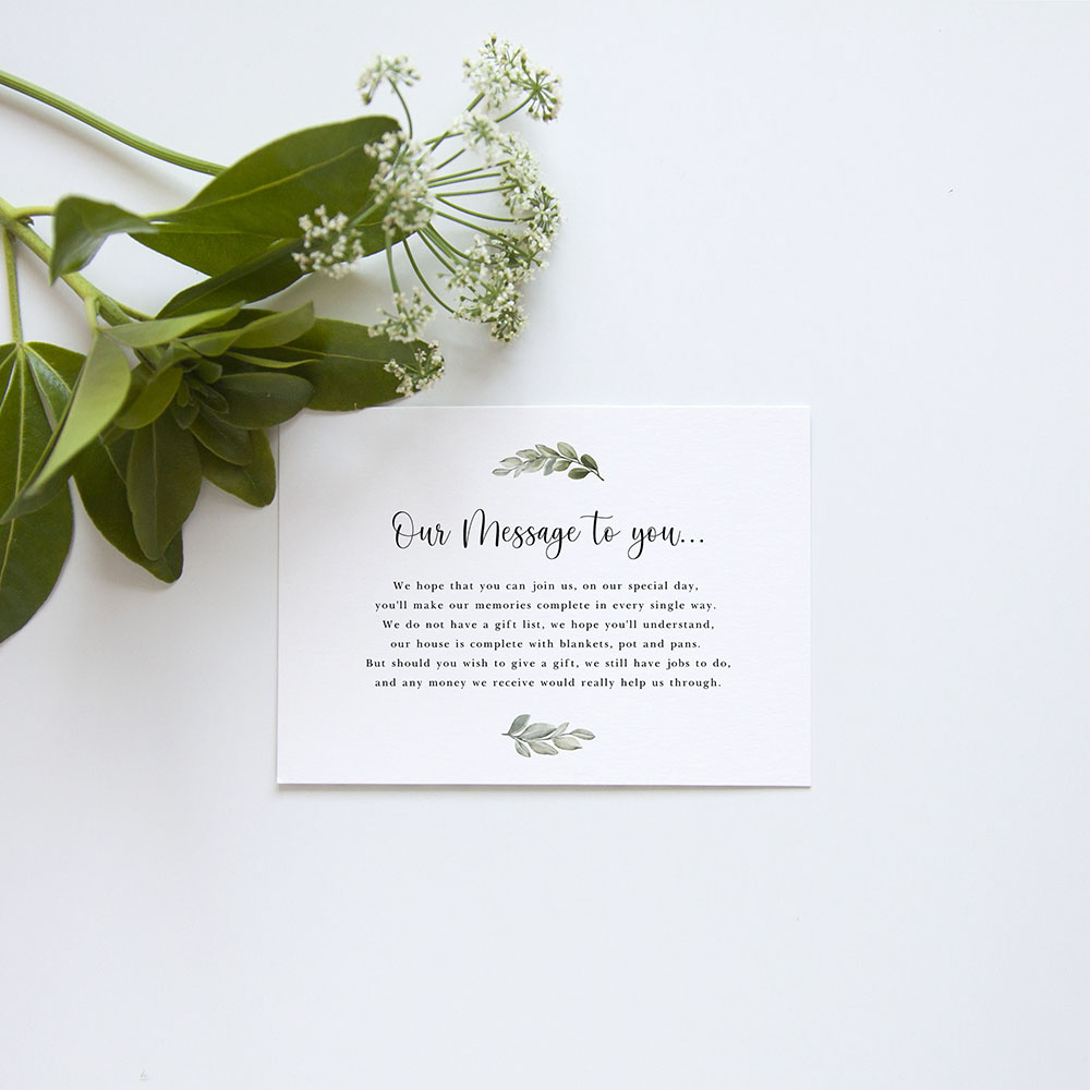 'Tuscany' Standard Wedding Invitation