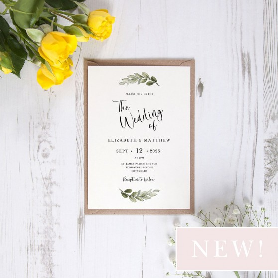 'Tuscany' Standard Wedding Invitation Sample