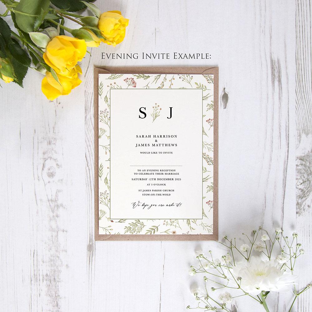 'Woodland Floral' Sleeve Invite