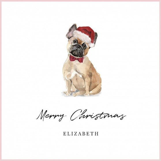 French Bulldog Christmas - C120