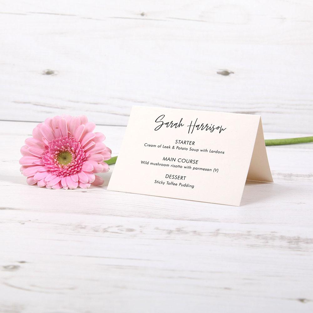 'Amelia' Menu Place Card