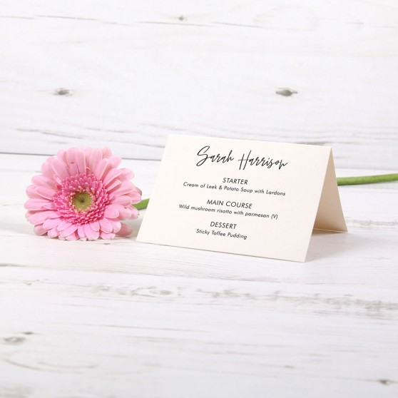 'Amelia' Menu Place Card