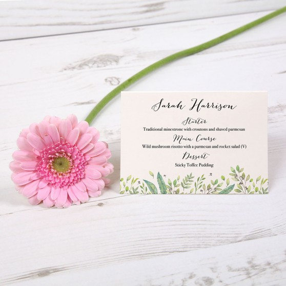 'Arabella' Menu Place Card