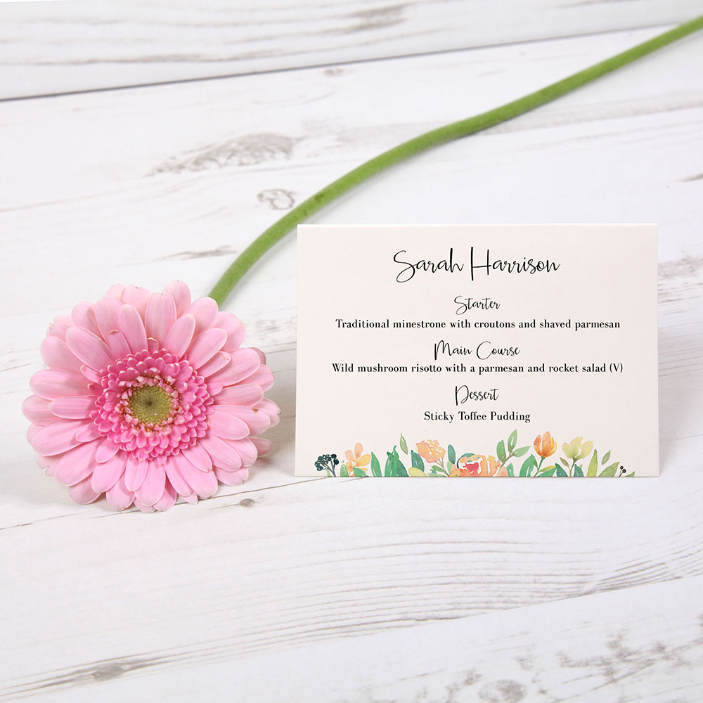 'Bella' Menu Place Card