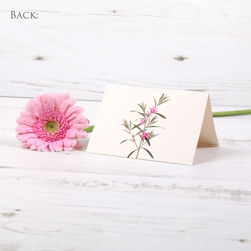 'Pink Botanical' Menu Place Card