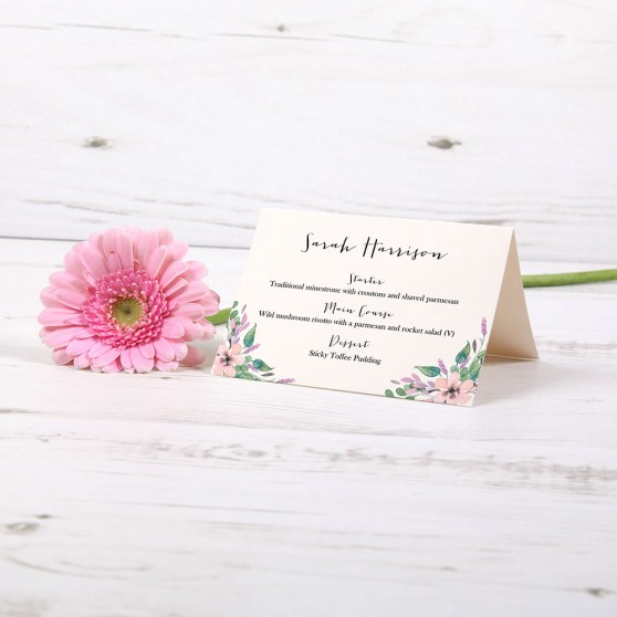 'Chloe' Menu Place Card