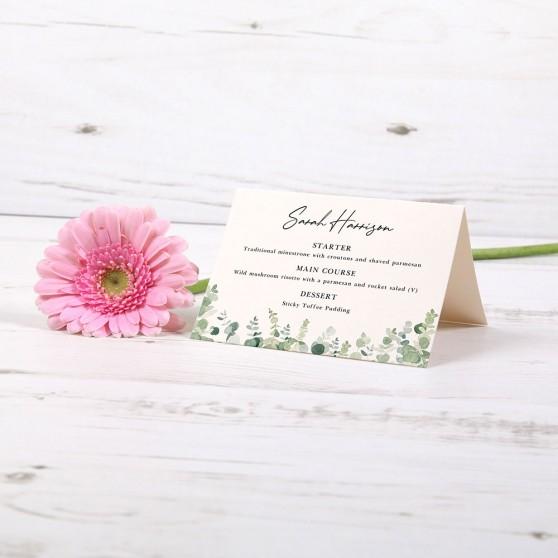 'Classic Eucalyptus' Menu Place Card