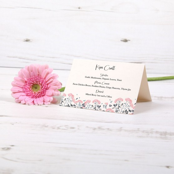 'Felicity' Menu Place Card