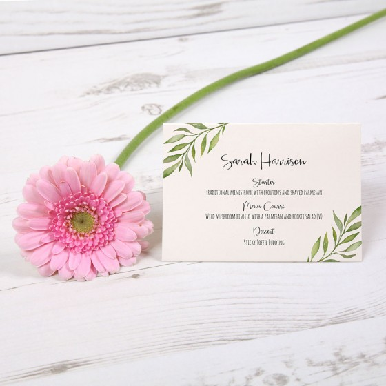 Menu Place Cards