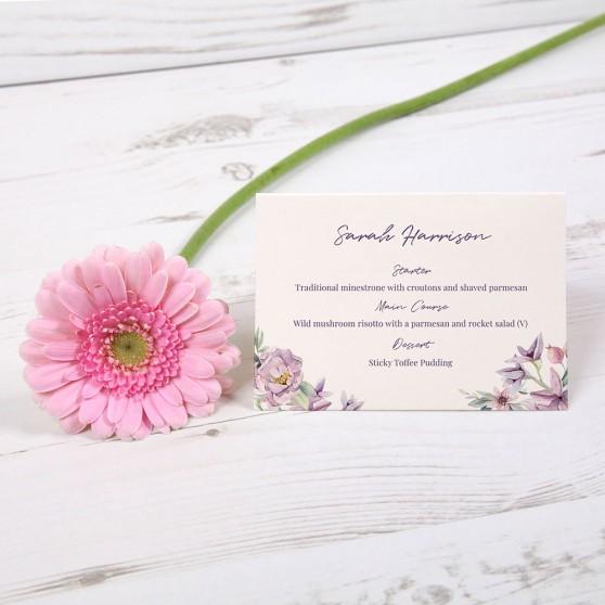 'Henrietta Dawn' Menu Place Card