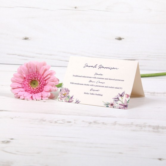 'Henrietta Dawn' Menu Place Card