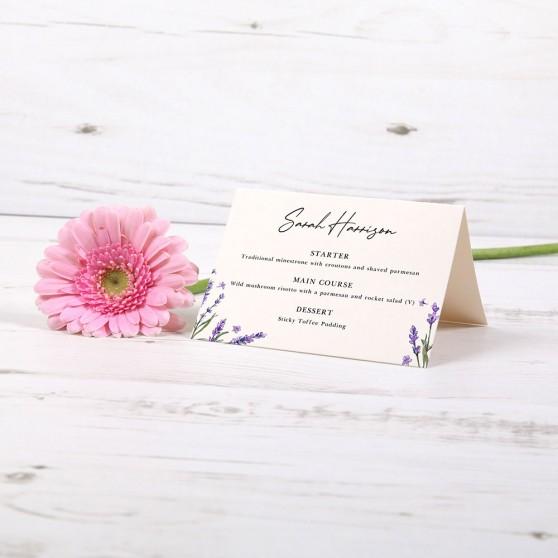 'Lavender' Menu Place Card
