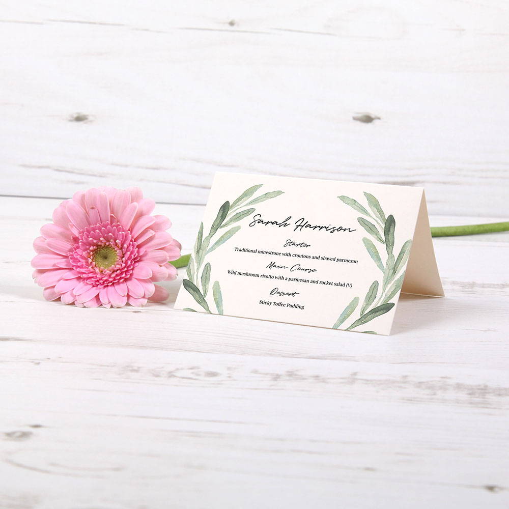 'Olive' Menu Place Card