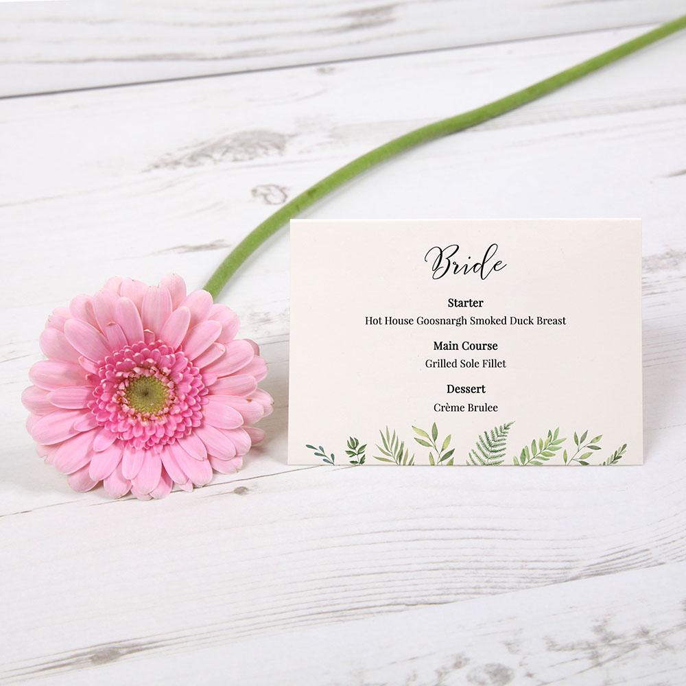 'Ophelia' Menu Place Card
