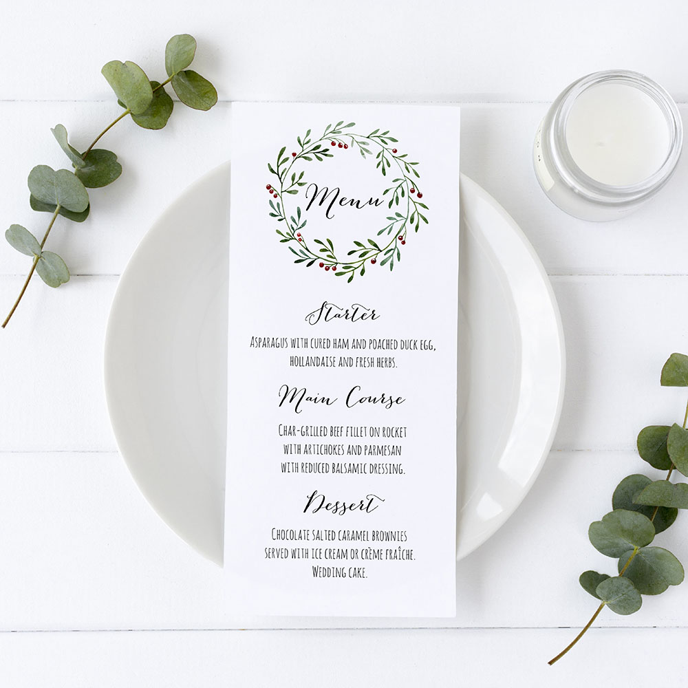 'Christmas' Slim Menu