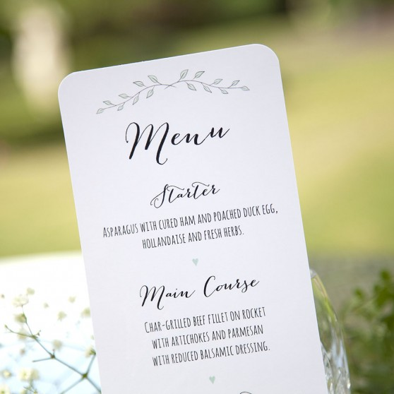 'Green Plant' Slim Menu