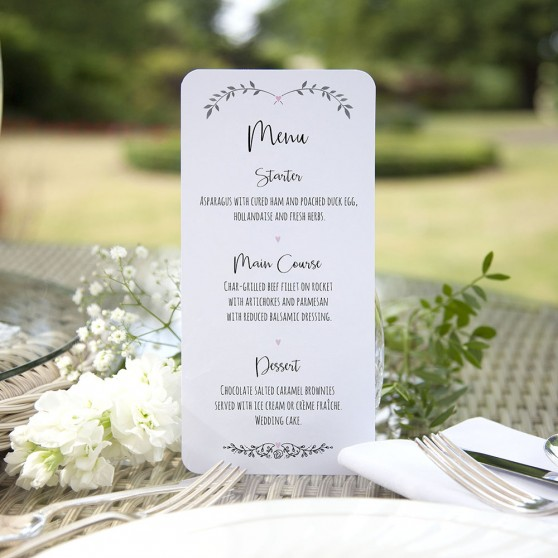 'Pink Ivy Design' Slim Menu