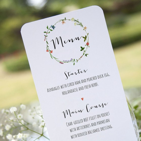 'Meadow Floral' Slim Menu