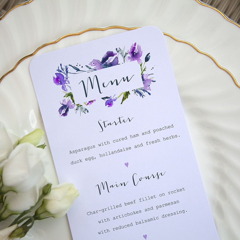 'Midnight Iris' Slim Menu