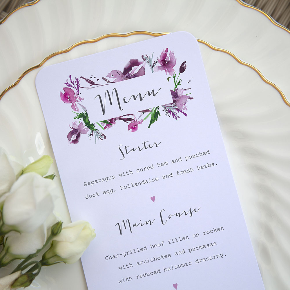 'Pink Iris' Slim Menu