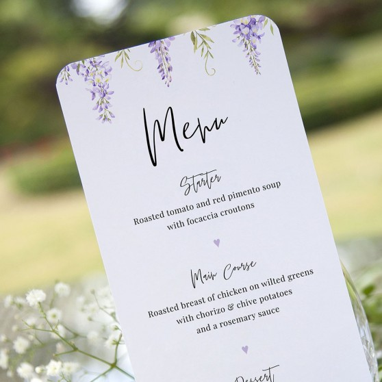'Wisteria' Slim Menu
