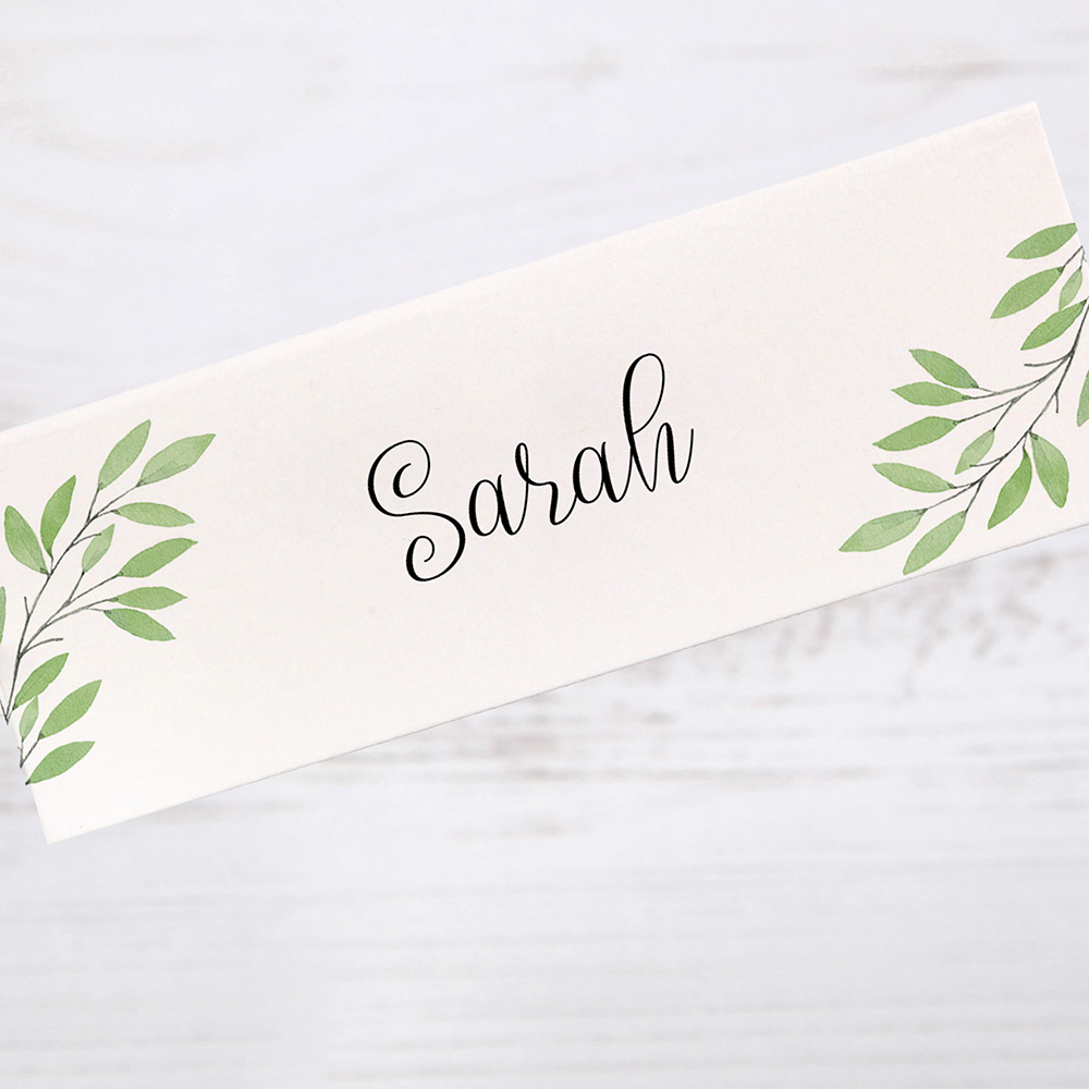 'Autumn Green' Place Cards