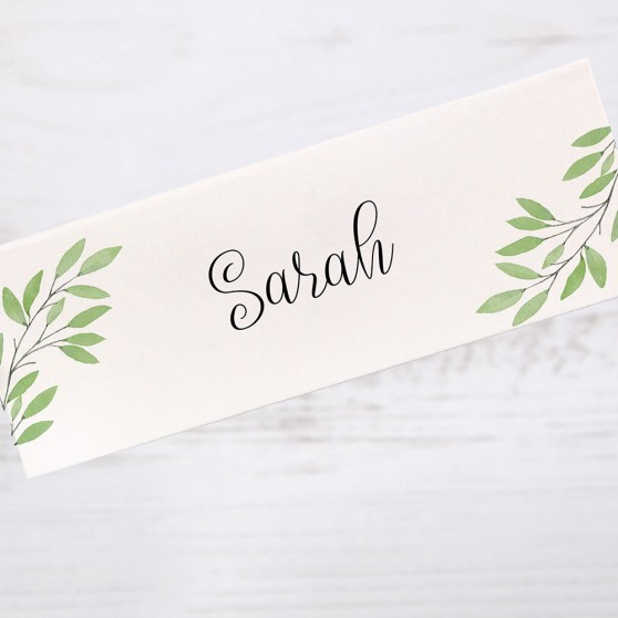 'Autumn Green' Place Card Sample