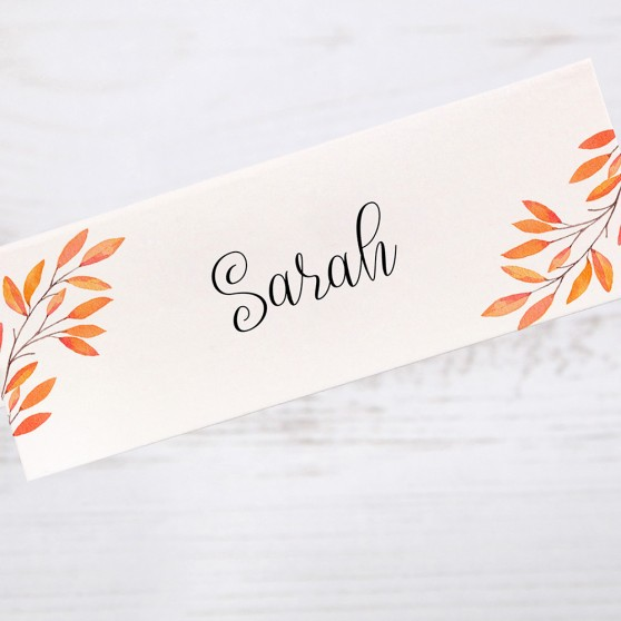 'Autumn Orange' Place Cards