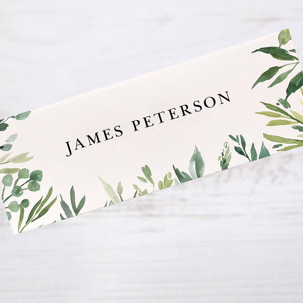 'Back to Nature' Place Card Sample