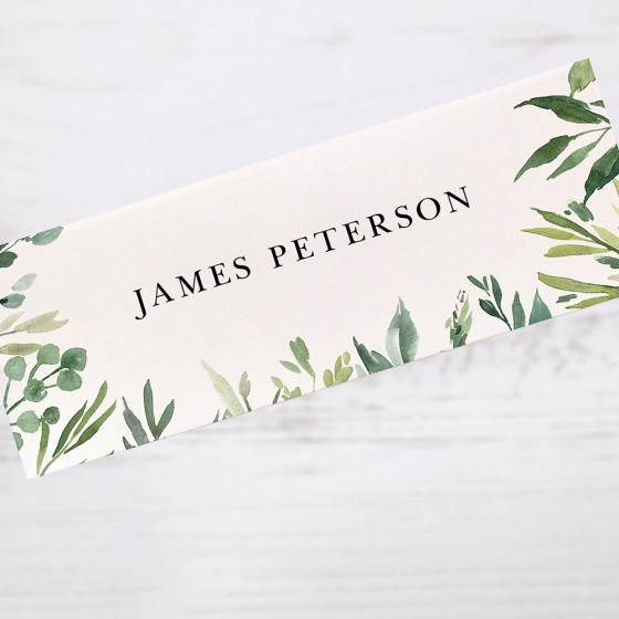 Place Card Samples