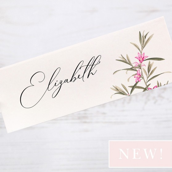 'Pink Botanical' Place Card Sample